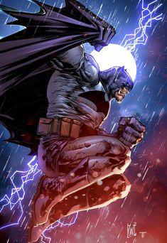 Batman by Ken Lashley colours by Juan Fernandez - Batman Poster - Trending Batman Poster. - Batman by Ken Lashley colours by Juan Fernandez Batman Painting, Batman Artwork, Batman Wallpaper, Batman Comic Art, Joker Batman, Batman Fan Art, Gotham Batman, Batman Robin, Batman The Dark Knight