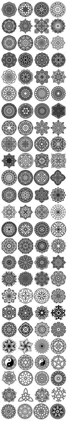 Tatto Ideas 2017 100 Vector Mandala Ornaments tortue de mer avec mandala, 3 ème en partant d'en haut à gauche