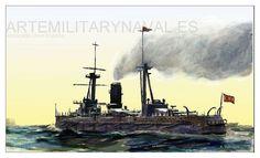 Pintura Militar y Naval: El Acorazado España