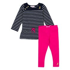 Juicy Couture Little Girls Long Sleeve Tunic and Leggings 2-Piece Set