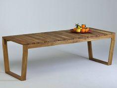 Mesa de jardín rectangular de madera OSCAR | Mesa de jardín - Lgtek Outdoor