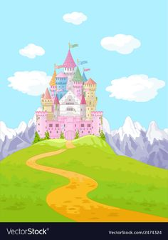Find Fairy Tale Magic Princess Castle Landscape stock images in HD and millions of other royalty-free stock photos, illustrations and vectors in the Shutterstock collection. Landscape Background, Landscape Wallpaper, Fairytale Castle, Fantasy Castle, Fantasy Landscape, Landscape Art, Castle Cartoon, Castle Backdrop, Castle Illustration