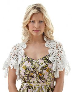 Keep covered without hiding your ensemble by throwing on a lovely Light and Lacy Bridal Shrug. #DIYBridalAttire #FreeCrochetPatterns