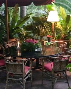 design ideas home Estilo Tropical, Tropical Style, Tropical Decor, Tropical Garden, West Indies Style, British West Indies, Outdoor Rooms, Outdoor Dining, Outdoor Decor