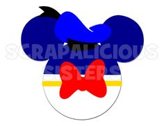 Personalized Donald Themed Mickey Mouse by ScrapaliciousSisters, $10.00