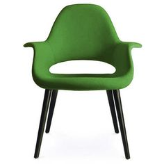 Vitra Organic Chair Green ($1,975) ❤ liked on Polyvore featuring home, furniture, chairs, accent chairs, green, green accent chair, green furniture, vitra furniture, vitra chair and plastic chairs