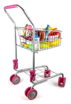 Precious Toys Kids & Toddler Pretend Play Shopping Cart with Groceries - http://popularchristmas.com/precious-toys-kids-toddler-pretend-play-shopping-cart-with-groceries/