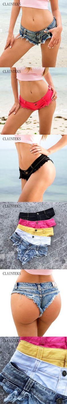 Summer Shorts Women High Cut Bikini Short Jeans Sexy Low Rise Waist Denim Mini Hot Shorts Club Wear 2017