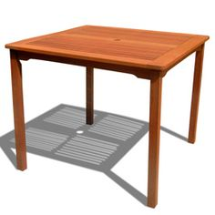 Ibiza Outdoor Eucalyptus Wood Stacking Dining Table  Dimensions: 29.5 inches high x 35.5 inches wide x 35.5 inches deep,  $171