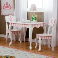 Teamson Magic Garden Table & 2 Chairs painted & carved | Teamson ...