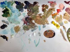 Painting with oil colors.   #oilpainting #painting #tools #colors #artist #art #landscapes #nature #westernart