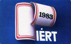 PIÉRT - 1983 - régi iskolai füzet címke