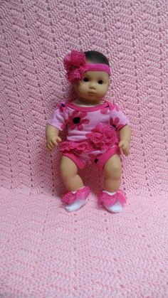 AMERICAN GIRL Bitty Baby Clothes Big Blossoms 15 by TheDollyDama, $16.00