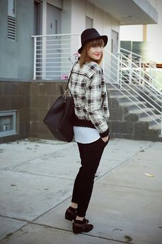 Mango Jacket, H&M Bag, Sam Edelman Boots