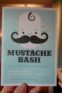 mustache babu shower | Mustache Bash invites FOR SALE on etsy! They are designed by my ...