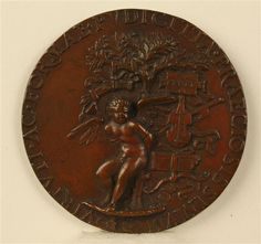 Medal of Lucrezia Borgia (lapel), to a tree trunk chained Amor
