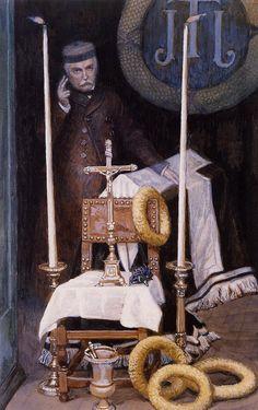 James Jacques Joseph Tissot (1836-1902) Portrait of the Pilgrim Gouache 1886-1894 The Brooklyn Museum (New York, New York, United States)