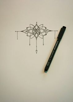 PRICE DROP Knot and Lotus Tattoo van abirdsDesigns op Etsy