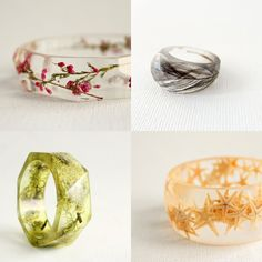pretty resin jewelry from Rosella Resin's