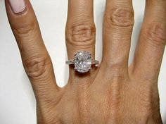 3.71ct Estate Oval Diamond Solitaire Engagement ring