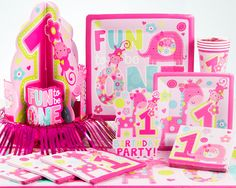 Wild Girl First Birthday Party Supplies - PartyPail