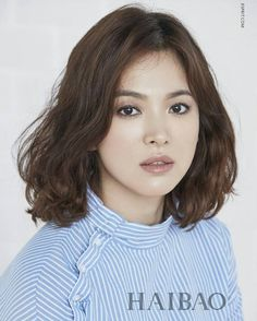 Song Hye Kyo Song Hye Kyo Sure, the bushy perms of the might be out of vogue, but there are plen Modern Hairstyles, Permed Hairstyles, Cool Hairstyles, Medium Hair Styles, Short Hair Styles, Getting A Perm, Really Long Hair, Song Hye Kyo, Air Dry Hair