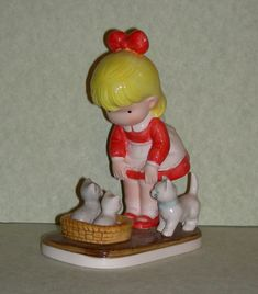 Joan Walsh Anglund  Furry Friends  figurine 1982 by zodwollopp, $16.99