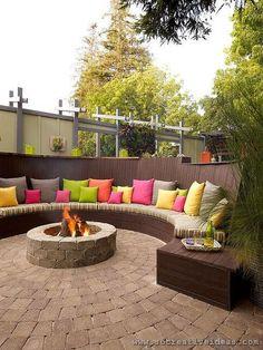 backyard seating diy