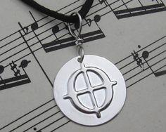 Coda Symbol Pendant  Music Jewelry  Musician by nicholasandfelice, $ 14.50