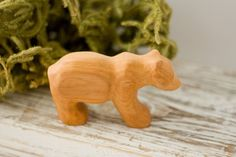 Bear Cub  waldorf wooden animal toy   woodland nature by FrejaToys, $19.00