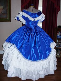 14-006-blue-scalloped-ball-gown-sold