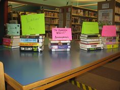 Book Spine Poetry Display --- TITLED! Of course!