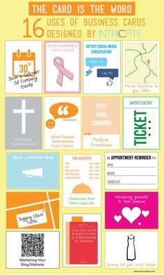 16 Uses Of Business Cards Designed By Intricate [INFOGRAPHIC]