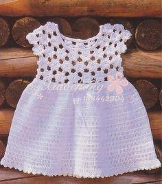 Floral sundress for baby girls ⋆ Crochet Kingdom ~ diagram only ~ CROCHET - FREE Beau Crochet, Moda Crochet, Crochet Baby Dress Pattern, Baby Dress Patterns, Knit Crochet, Free Crochet, Flower Crochet, Crochet Patterns, Crochet Toddler