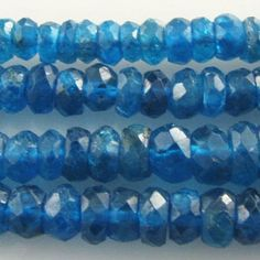 Apatite faceted rondelle gemstone beads (N) 3.4 to 5mm: Wholesale Gemstone Beads - Magpie Gemstones
