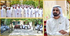 Participants of the Arabian Camels Race Received by Sheikh Mohammed