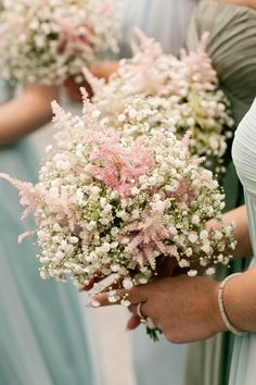Gyposophia Astilbe Bouquet Flowers Bridesmaid Pretty DIY Pink Village Hall Countryside Wedding http://www.jobradbury.co.uk/