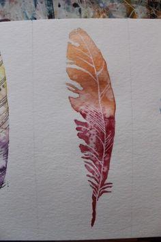 Federn malen ist gar nicht so schwer: Ich stelle dir hier drei Varianten vor, wie du ganz einfach eine Feder malen kannst. Schritt für Schritt zum Bild. Pencil Art Drawings, Watercolor Bird, Dragon Art, Pink Eyes, Simple Art, Art Techniques, Birthday Gifts, Doodles, Birds