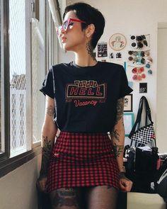 Fashion style edgy punk grunge outfits 19 ideas for 2019 Fashion 90s, Grunge Fashion, Unique Fashion, Street Fashion, Womens Fashion, Fashion Fall, Fashion Rings, Fashion Boots, Fashion Black