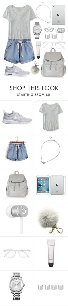 """""""Off to College"""" by tasha-m-e ❤ liked on Polyvore featuring NIKE, Aéropostale, Topshop, Beats by Dr. Dre, RetroSuperFuture, MAC Cosmetics, Calvin Klein, Maison Margiela, Jewel Exclusive and women's clothing"""