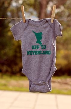 Off to Neverland Bodysuit You Choose Size by littletreetopsbaby, $10.00