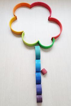 2d bloem ; 1 van de meer dan 50 voorbeelden met de Grimm's regenboog #grimmsrainbow - Mamaliefde.nl
