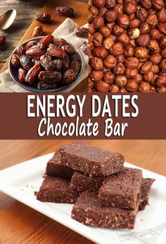Energy dates chocolate bar isa pretty simple sweet treat super food to makeand you don't need a lot of ingredient. It's totally raw so these are made and stored quickly for your daily needs.