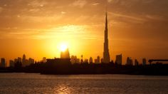 Burj Dubai at Sunset, Dubai,(United Arab Emirates)