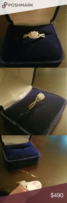 10k gold several small diamonds Moms ring but not my style can be resized. Missing 2 of the smaller diamonds Jewelry Rings