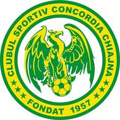 Logo of CS Concordia Chiajna Soccer Logo, Football Team Logos, Football Soccer, Soccer Teams, Football Mexicano, Crest Logo, Vector Format, Esports, Brand Design