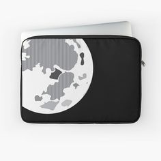 Minimalist moon illustration on a laptop sleeve, perfect for space enthusiasts everywhere! Moon Illustration, Laptop Case, Full Moon, Vignettes, Laptop Sleeves, Minimalist, Space, Artist, Stuff To Buy