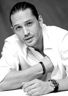 British actor, Tom Hardy. For some reason this guy looks better in color, but this is a BW curation so it will have to suffice. sjh