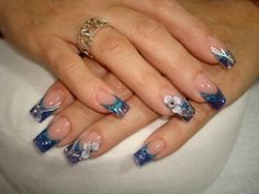♥ Acrylics - Blue French