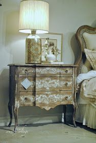 Distressed side table - what a great piece!